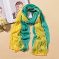 18 colors Hot Fashion Shawl Chiffon Neck Warmer Silk Scarf Women Girls Cape Long Headband Gradient