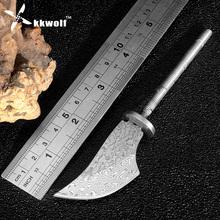 Buy KKWOLF DIY Damascus steel knives Sharp Handmade making knife blanks VG10 Fixed blade Hunting camping survive knife blade billet for $16.90 in AliExpress store