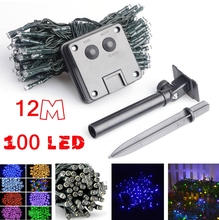 Brand 100 LED Outdoor 8 Color Solar Lamp LED String Lights Fairy Holiday Christmas Party Garlands Solar Garden Waterproof Lights(China (Mainland))