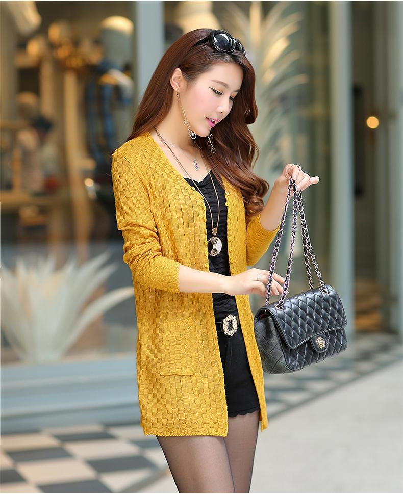 Вязаный свитер женский 2015