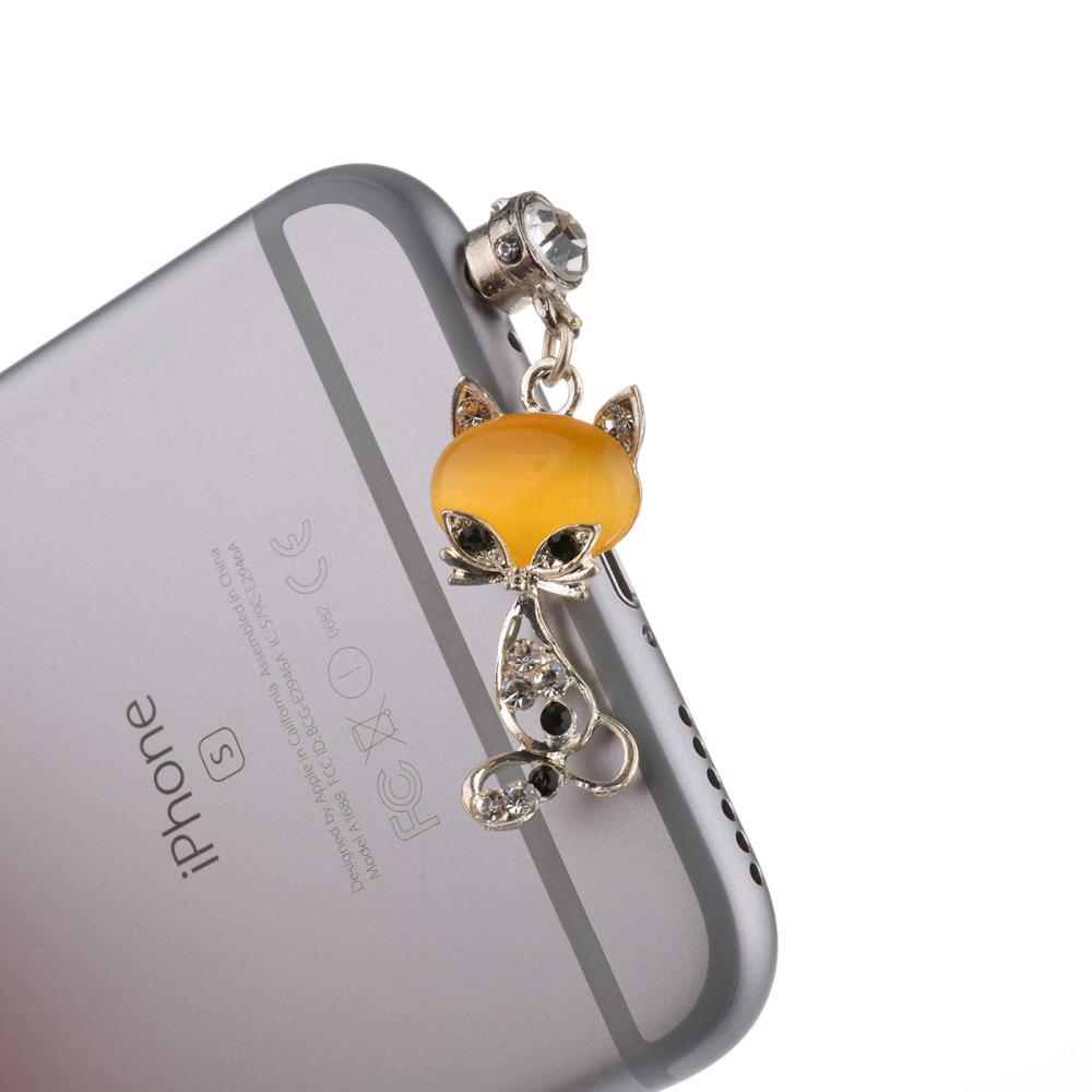 Crystal Mobile Phone Accessories 3.5MM Universal Dustproof Earphone Jack Anti Dust Plug Cap For iPhone Samsung LG Huawei BQ Wiko(China (Mainland))