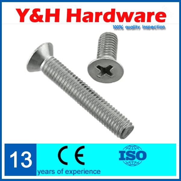 Direct selling Phillips flat-head screws M6*90mm length 15pcs 304 stainless steel machine screws<br><br>Aliexpress