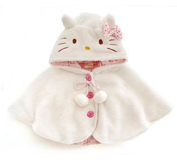 2016 Мода девочка пальто, hello kitty bebes мягкий флис плащ Малышей одежда для девочек мыса верхняя одежда детская одежда