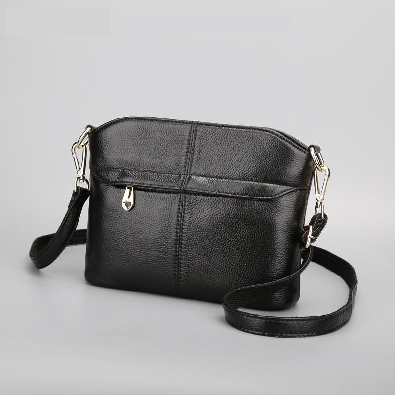 2016 New fashion women business handbag casual shopping shoulder bags for female head layer cowhide crossbody bag Messenger Bags(China (Mainland))