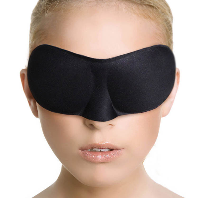 New Black Eye Shade Nap Cover Sleeping Mask Blinder Eyepatch Sleep Goggles For Travel Drop Shipping HB-0007-BK