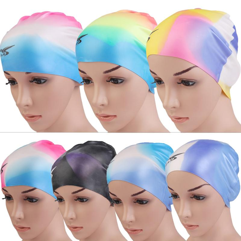 Durable Soft Silicone Swiming Cap hat Anti-slip Waterproof Elastic Multi Color Swim Hat caps for adult free shipping GYH(China (Mainland))