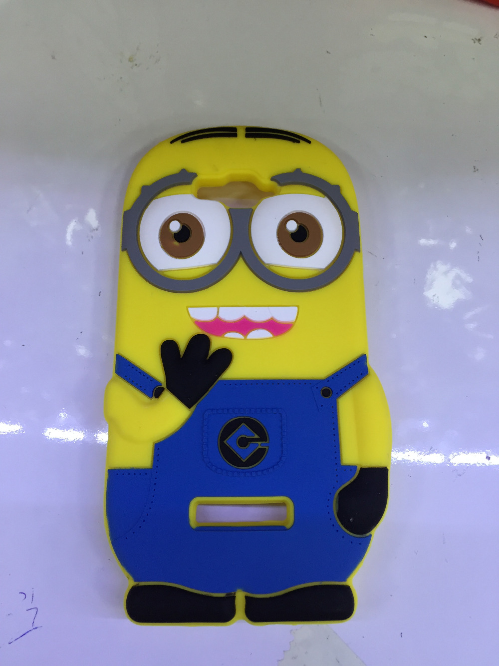 Alcatel POP C7 Case 3D Cute Cartoon Despicable 2 Minions Rubber Silicone Cover One Touch Pop OT-7040 7040D - Fashion Electronic City store