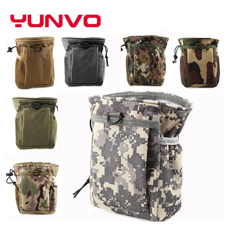 Free Shipping Large Capacity  Military Tactical Airsoft Paintball Hunting Folding Mag Recovery Dump Pouch Camping Climbing Bags<br><br>Aliexpress