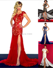 2016 Brand New Evening Dresses Women Prom Ball Party Bride Gown Sexy High Split Backless Homecoming/Graduation Formal Dress(China (Mainland))