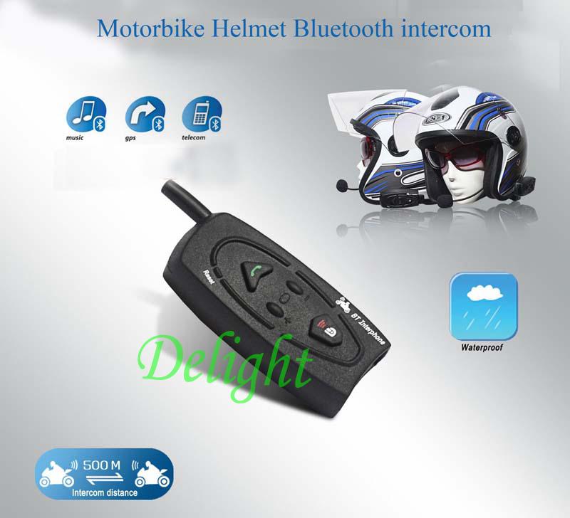 Bluetooth Motorbike helmet Headset intercom unicador capacete 500m Motorcycle helmet intercom system Racing skiing interphone(China (Mainland))