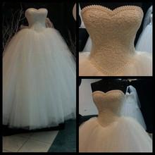 2015 new luxury ball gown abiti da sposa sweetheart lace perle paillettes abito da sposa vestidos de noiva tulle LE-161(China (Mainland))