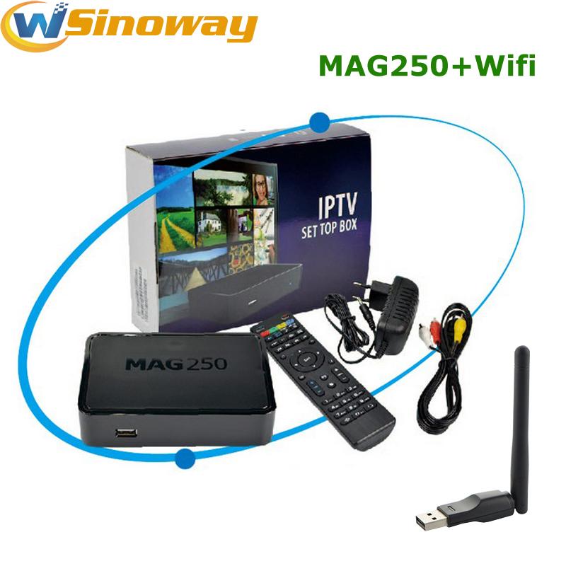 IPTV set top box Mag250 STi7105 Media Player Mag 250 Linux TV Box 256M with USB wifi antenna Same as Mag254 OTT TV Box(China (Mainland))