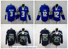 Marshawn Lynch,Richard Sherman,Russell Wilsons,Earl Thomas FAN Sweater hoodies camouflage(China (Mainland))