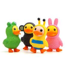 4 pçs/set figura toy keychain dos desenhos animados multicolor animais B pato Pato Amarelo bonito boneca saco pingente anel partido cosplay fornecedor(China)