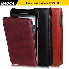 Lenovo P780 чехол 100% оригинальный кожаный чехол для Lenovo P780 вертикальный флип-крышкой мобильный телефон сумки и чехол аксессуары