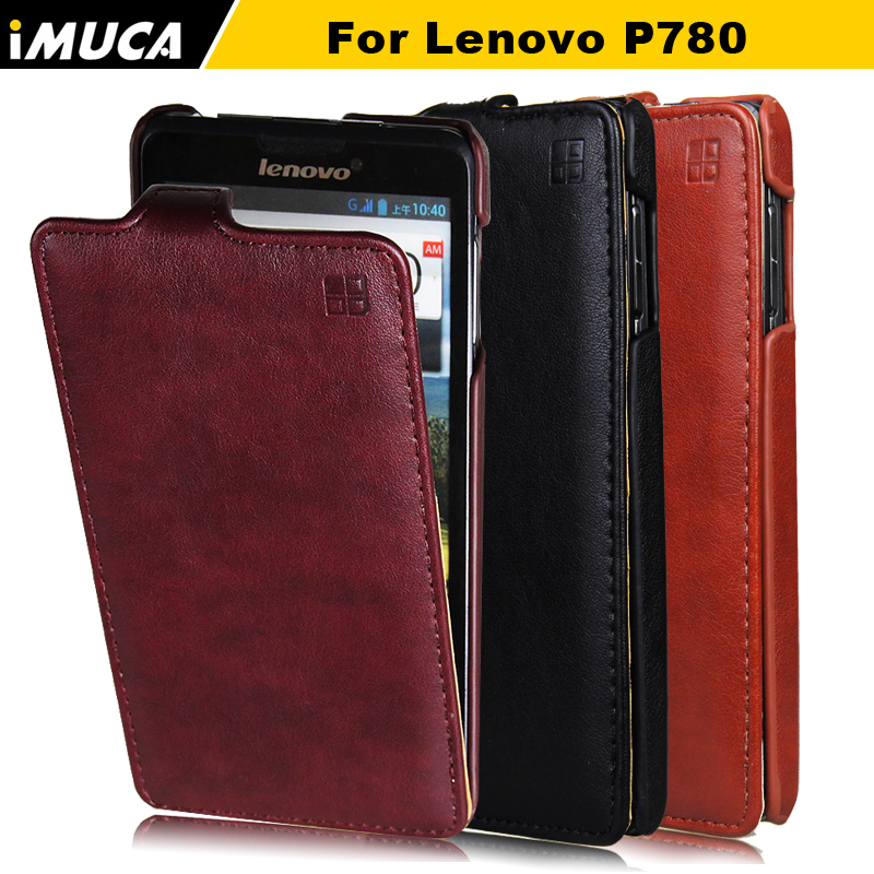 Lenovo P780 Leather Case Lenovo P780 Cover IMUCA Luxury Flip Case Capa Lenovo P780 Skin Shell Mobile Phone Cases