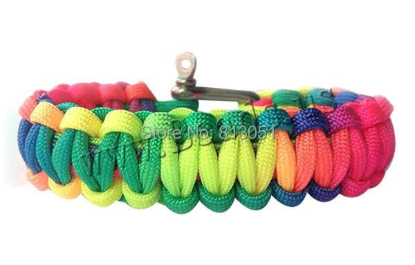 Free shipping!!!Survival Bracelets,Wedding, 550 Paracord, stainless steel Screw Pin Shackle, multi-colored, 22mm<br><br>Aliexpress