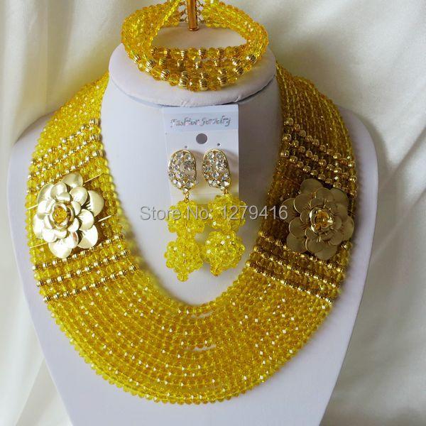 Nigeria Africa wedding fashion jewelry set, necklace bracelet earrings suit       T-1869<br><br>Aliexpress