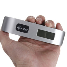 Buy Portable Hand Held Hook Belt LCD Electronic Hanging Digital Luggage Weighting Scale 50kg / 110Lb Weight Scales for $4.39 in AliExpress store