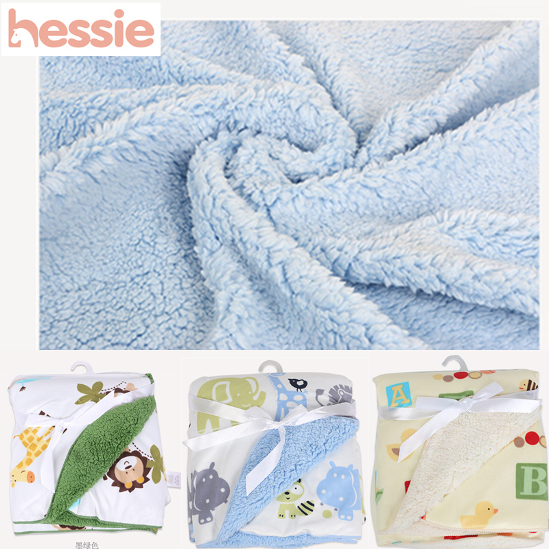 Hessie Double-sided Lamb Fur Newborn Baby Blanket & Swaddling Autumn Spring Super Soft Baby Bedding Quilt Products High Quality(China (Mainland))