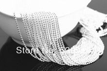 """Buy 18"""" Necklace 1.5mm Plated Silver Ball Necklace Chain Lobster Clasp Hook 30pcs/lot for $6.19 in AliExpress store"""