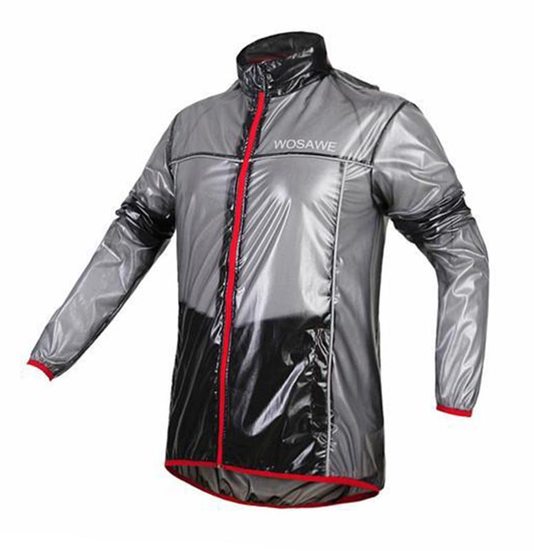WOSAWE Bike Bicycle Reflective Hooded Jacket Waterproof Windproof Cycling Raincoat Breathable Long Sleeve Rain Dust Wind Coat(China (Mainland))