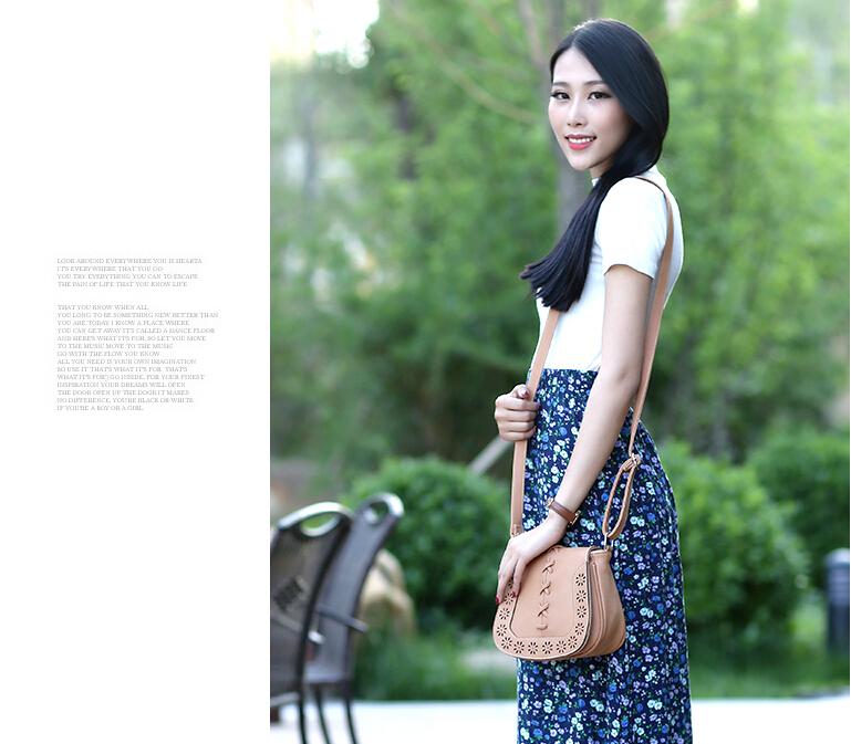 Women's Pu Flap bag! Lady's shopping phone&key carrybag Pastoral style retro fresh art carved hollow shoulder diagonal cross bag(China (Mainland))
