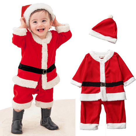 new baby romper christmas dress up new years red boys girls clothes with hat infant baby. Black Bedroom Furniture Sets. Home Design Ideas