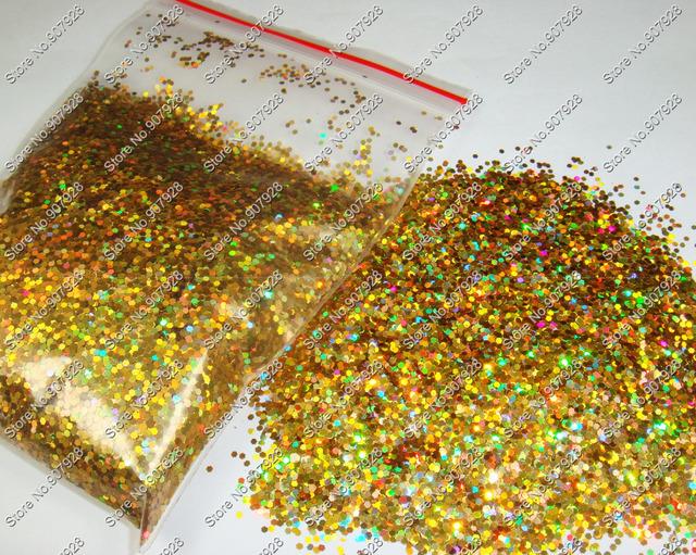 50g/bag Laser Holographic Gold Dazzling Hexagon Glitter Paillette Spangles Shape for DIY Nail Art Decoration&Glitter Crafts