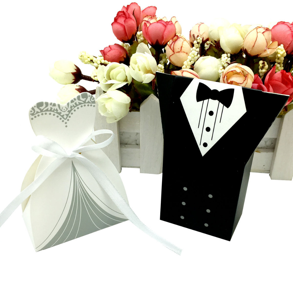 Wedding Party Gifts For Bride And Groom : /lots Bride And Groom Wedding Candy Box Gift Favour Boxes Wedding ...