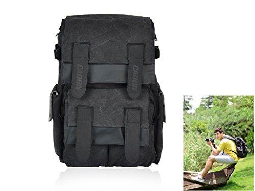 Caden M5 Canvas Camera Bag Backpack for Canon Nikon Sony DSLR Digital Camera Tablet PC(China (Mainland))