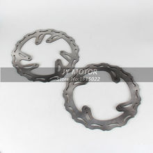 Front Rear Wavy Brake Disc Rotor Set CR125 CR250 CRF250R CRF250X CRF450R CRF450X Motocross Enduro Supermoto MX Racing - JY MOTOR STORE store