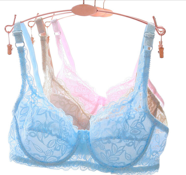 Good Sale High Quality Cheap Ladies Solid Bra Summer Thin Unlined Underwear For Women Hot Sale Nice Chest Bra(China (Mainland))