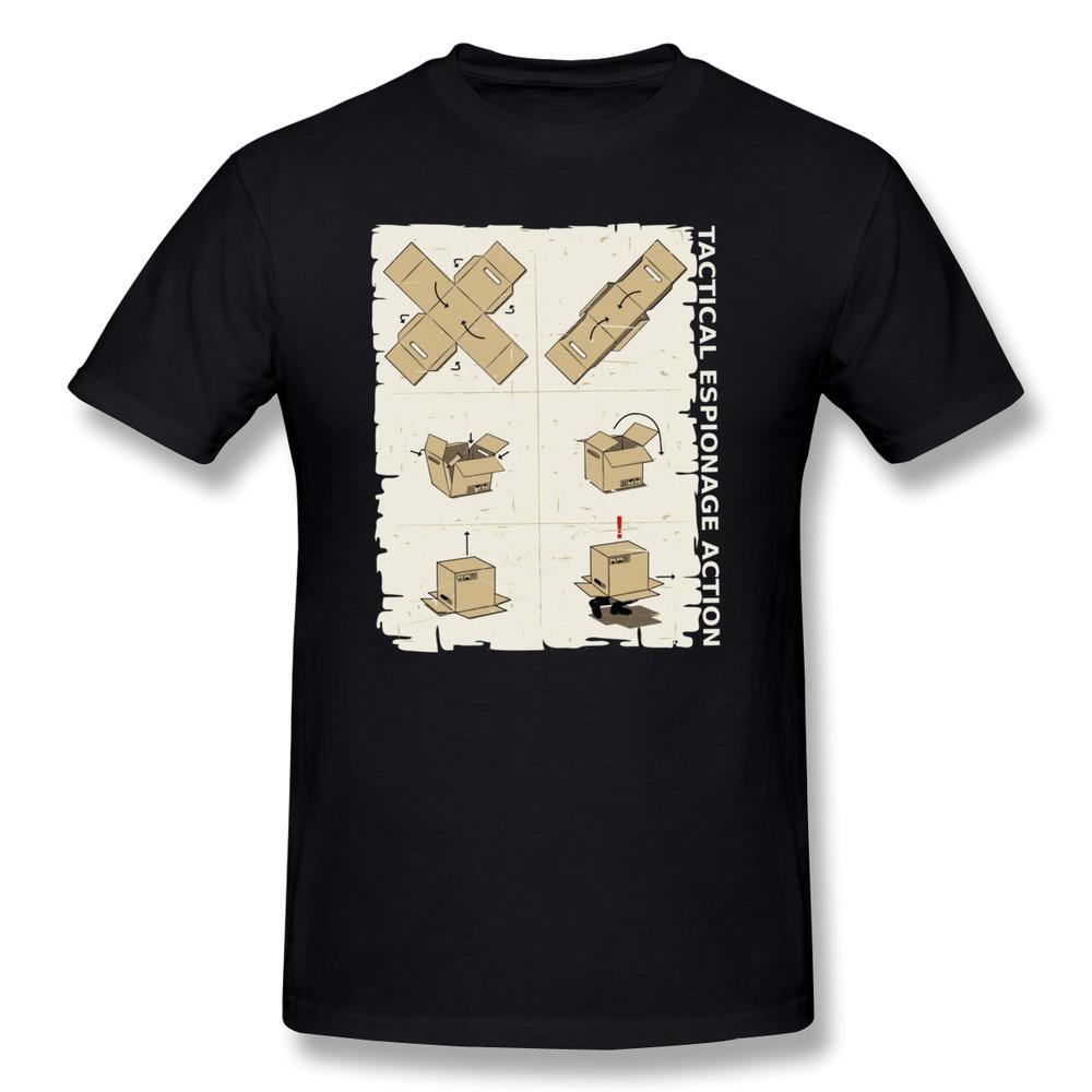 Unique design short sleeve t shirt mens metal gear solid for Unusual shirts for men