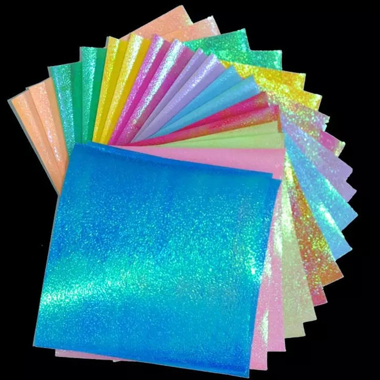 Origami Handmade paper pure color shining DIY 90pcs 69mm Mix 5 colors romantic for lovers Birthday Valentine's Day gift(China (Mainland))