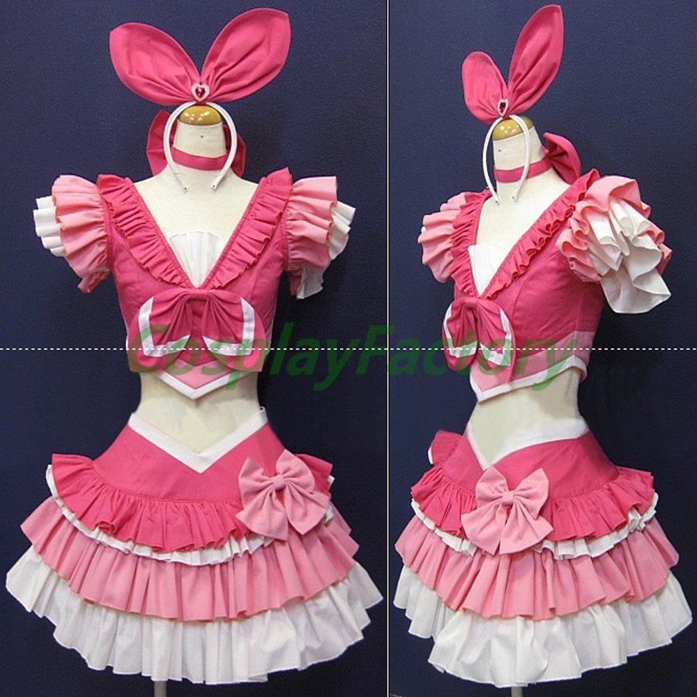 Tailored Suite PreCure Cosplay Cure Melody Party Dress Costume,1.5kg/pc(China (Mainland))