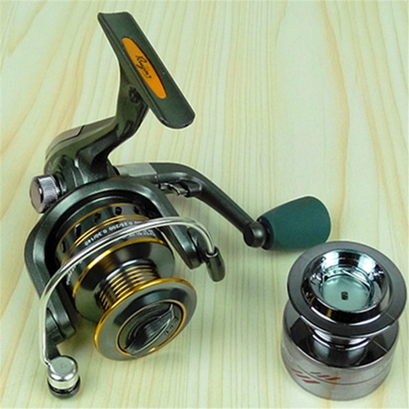 Ex2500 front Drag spinning reel 5 bearing metal line cup spinning wheel lure fishing reels plastic line cup(China (Mainland))