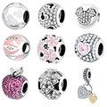 925 Silver Beads Fit Original Pandora Charms Bracelet Bangle Hot Sale Wholesale DIY Jewelry Berloque 2016