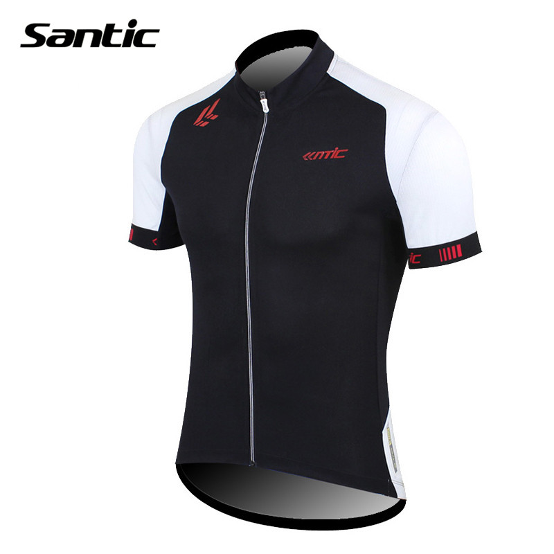 SANTIC Men's Breathable Cycling MTB Bike Bicycle Riding Jersey Outdoor Sports Quick Dry Clothing Short Sleeve Jersey Shirt Top