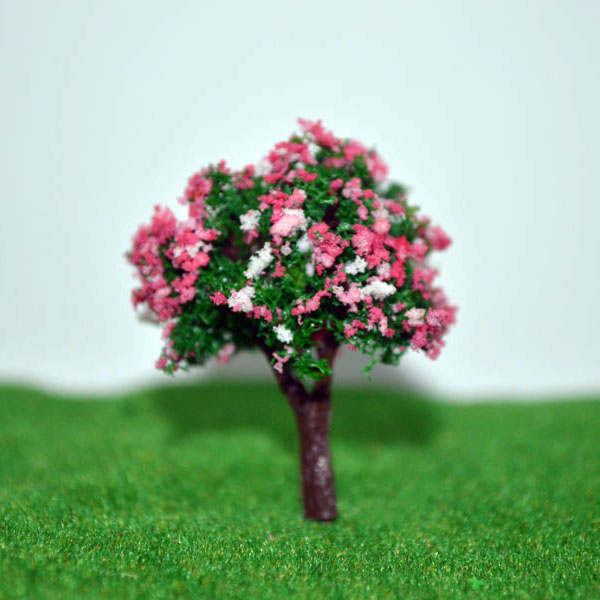 10cm Scale model flower tree for model train railroad scenery accessory trees model(China (Mainland))