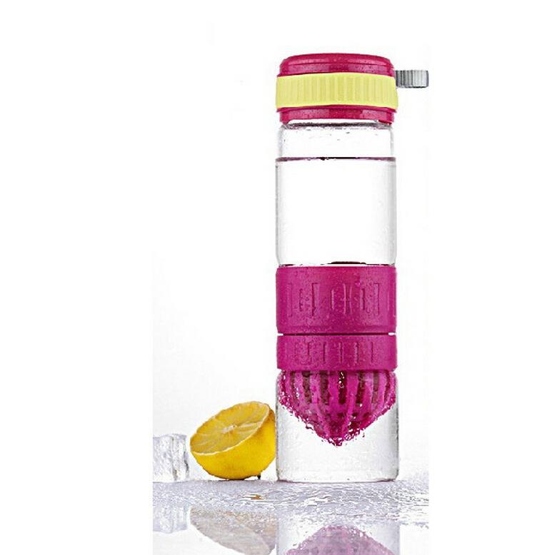 550ml Lemon Juice water bottle Energy Cup / Fruit Cups Kitchen Juicer Manually Maker Office Drinkware - Lomon Huang store