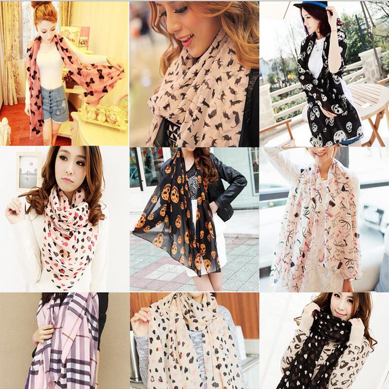 2015 New Design Women Lady Fashion Long Stole Soft all match Chiffon Summer Scarf Shawl Wraps