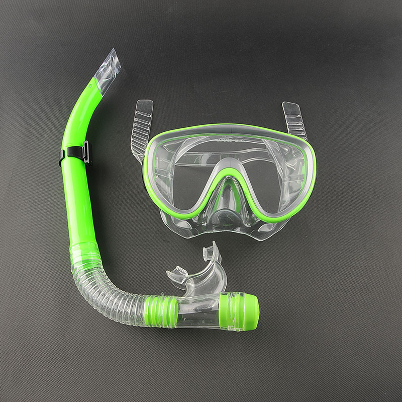 Swimming Swim Scuba Pro Anti-Fog Goggles Mask Dive Under water Diving Glasses Submersible w/ Dry Snorkel Set 3 Colors Silicon(China (Mainland))