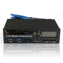 Beautiful Gitf New 5.25 Inch USB 3.0 High Speed Media Dashboard Front Panel PC Multi Card Reader Free Shipping Dec18