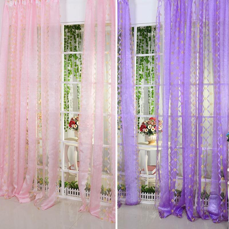 Melhor preço para verticais Sheer painel cortinas de porta Valances cortinas(China (Mainland))