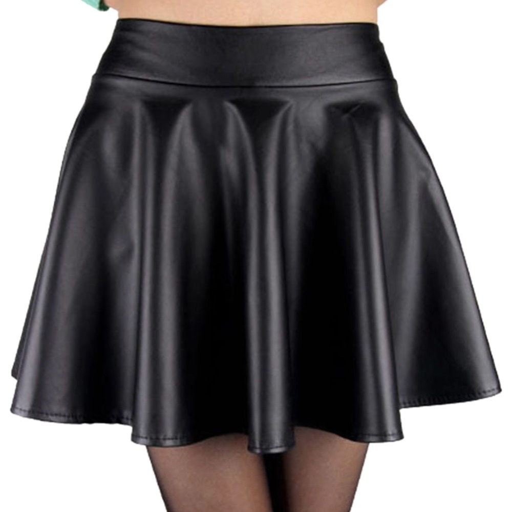 stylish high waist skirts faux leather