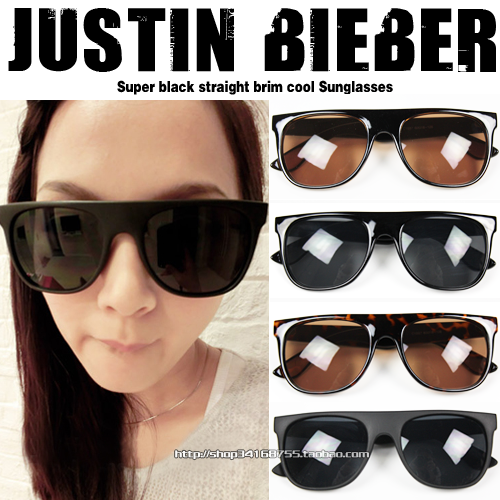 Justin bieber fashion brief star style glasses sunglasses - anxin's store