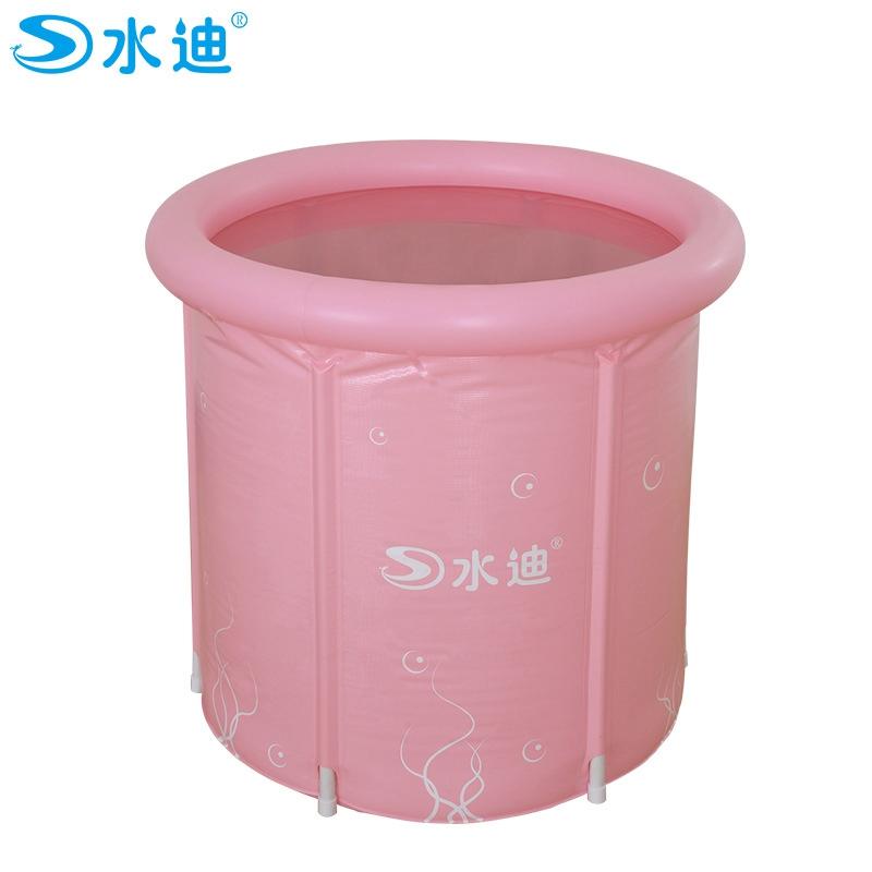 Inflatable Pool Adult 2 color option frame pipe PVC folding inner net Portable warm keeping bath barrel bathtub 70x70cm(China (Mainland))