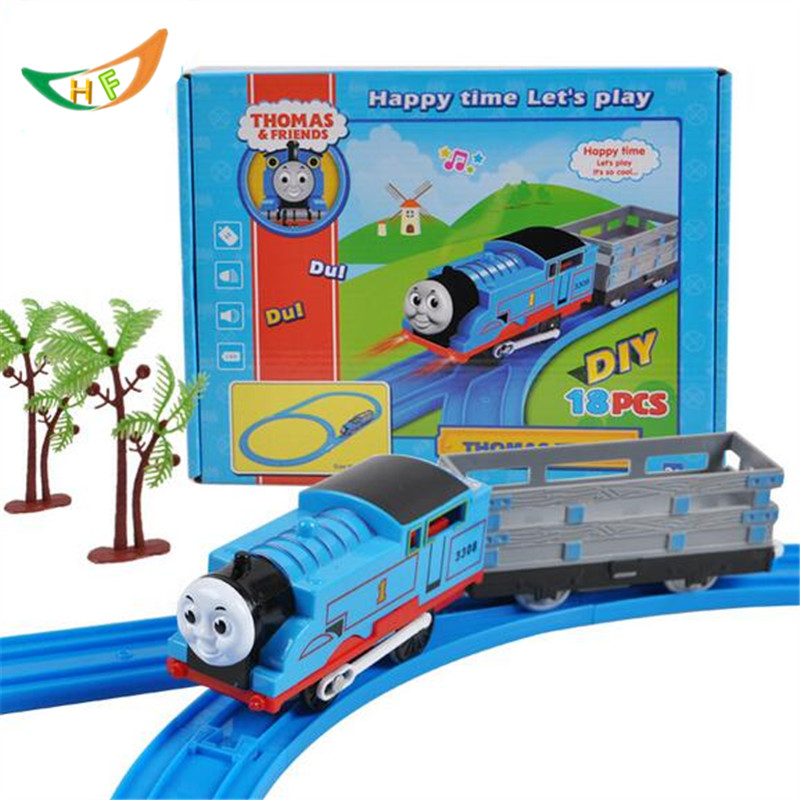 Thomas And Friends Trains Toys Kid Boy Electric Rail Road Set Trackmaster Mini Tomas piko Model racing track Christmas gift(China (Mainland))
