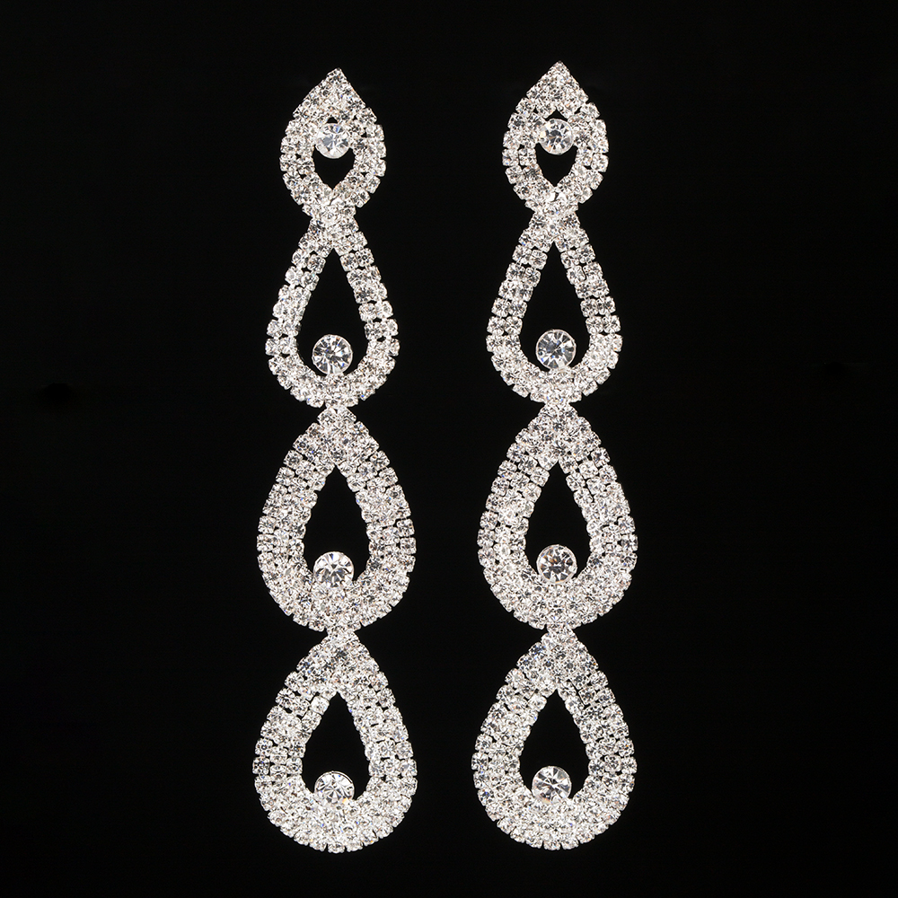 YFJEWE New Design Christmas gifts Fashion luxury crystal drop earrings for women jewelry rhinestone women long earring #E430